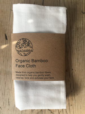 Organic Bamboo Face Cloth