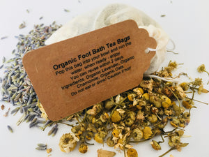 5 Organic Lavender, Chamomile and Oat Foot Tea Bags