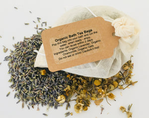 4 Organic Lavender, Chamomile and Oat Bath Tea Bags