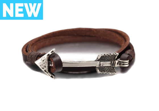 Brown Arrow Leather Bracelet - Palama Bracelets