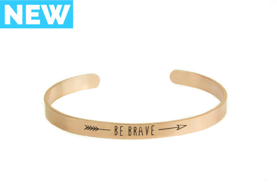Be Brave Bangle Bracelet - Rose Gold - Palama Bracelets