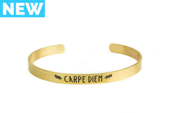 Carpe Diem Bangle Bracelet - Gold - Palama Bracelets