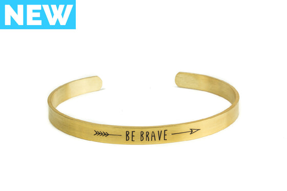 Be Brave Bangle Bracelet - Gold - Palama Bracelets