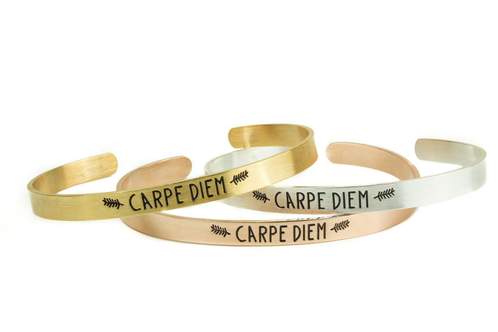 Carpe Diem Bangle Bracelet - Rose Gold - Palama Bracelets