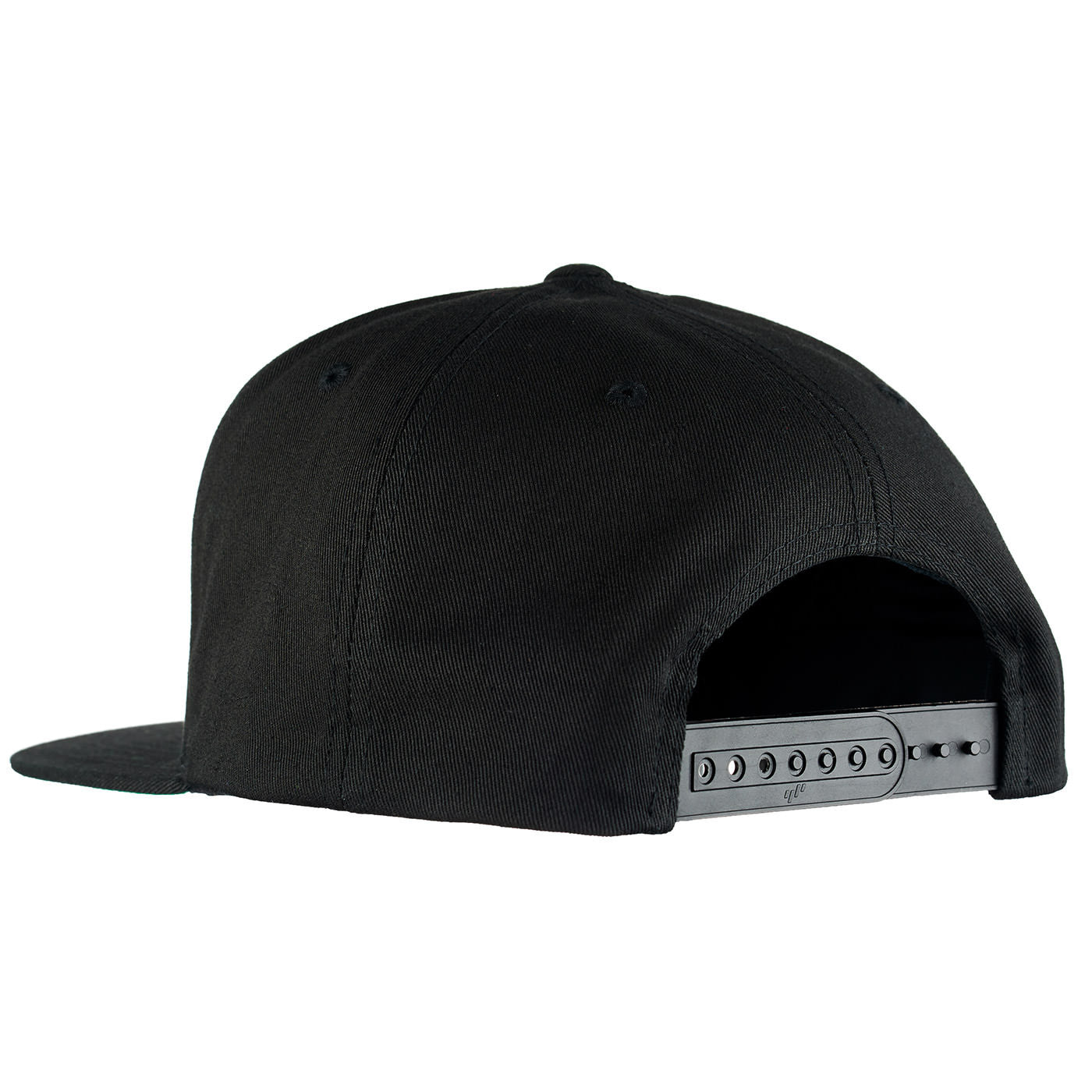 back view of black snapback