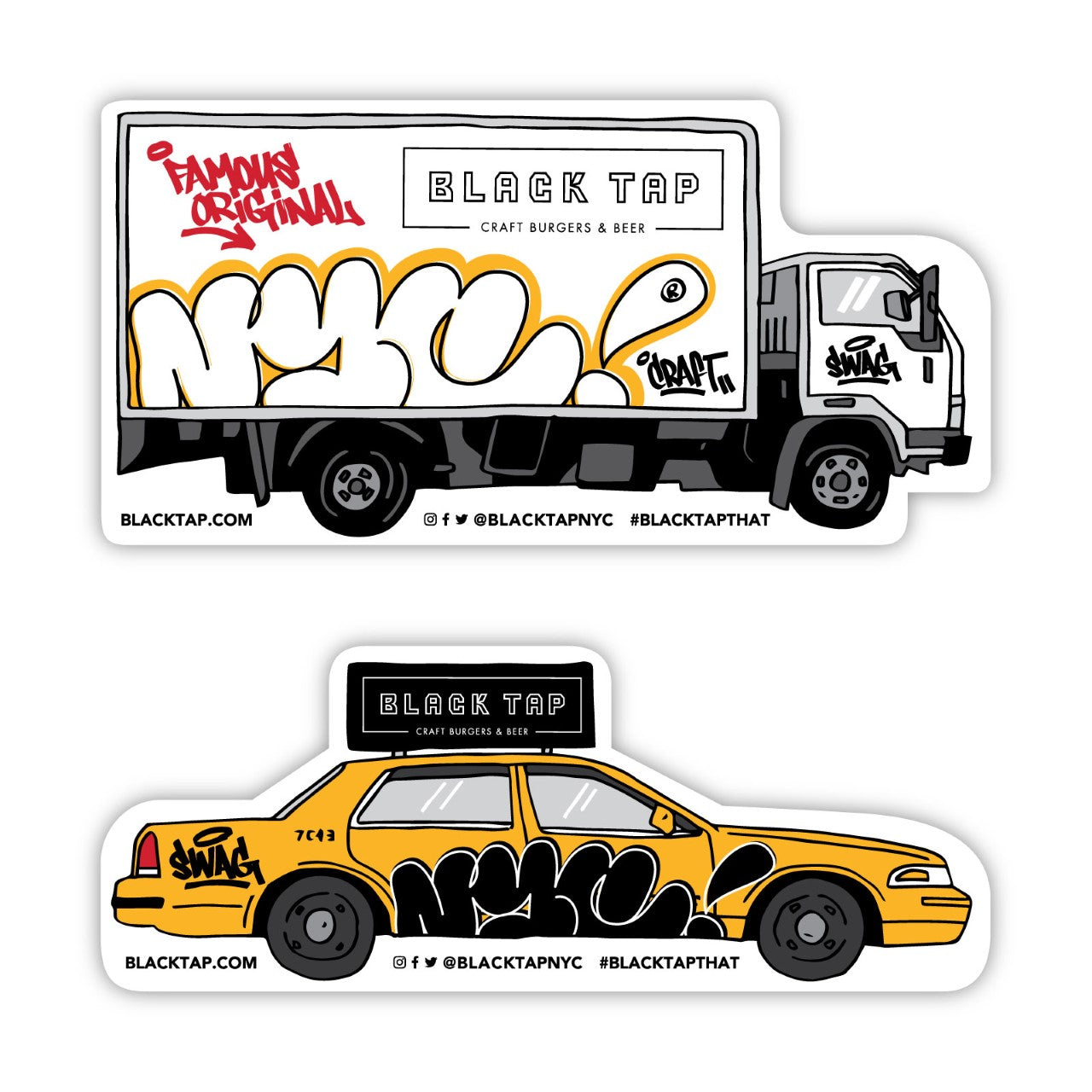 Black Tap Stickers