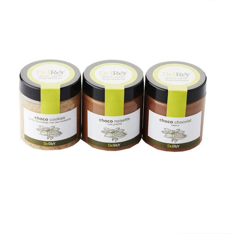 Trio of chocolate spreads