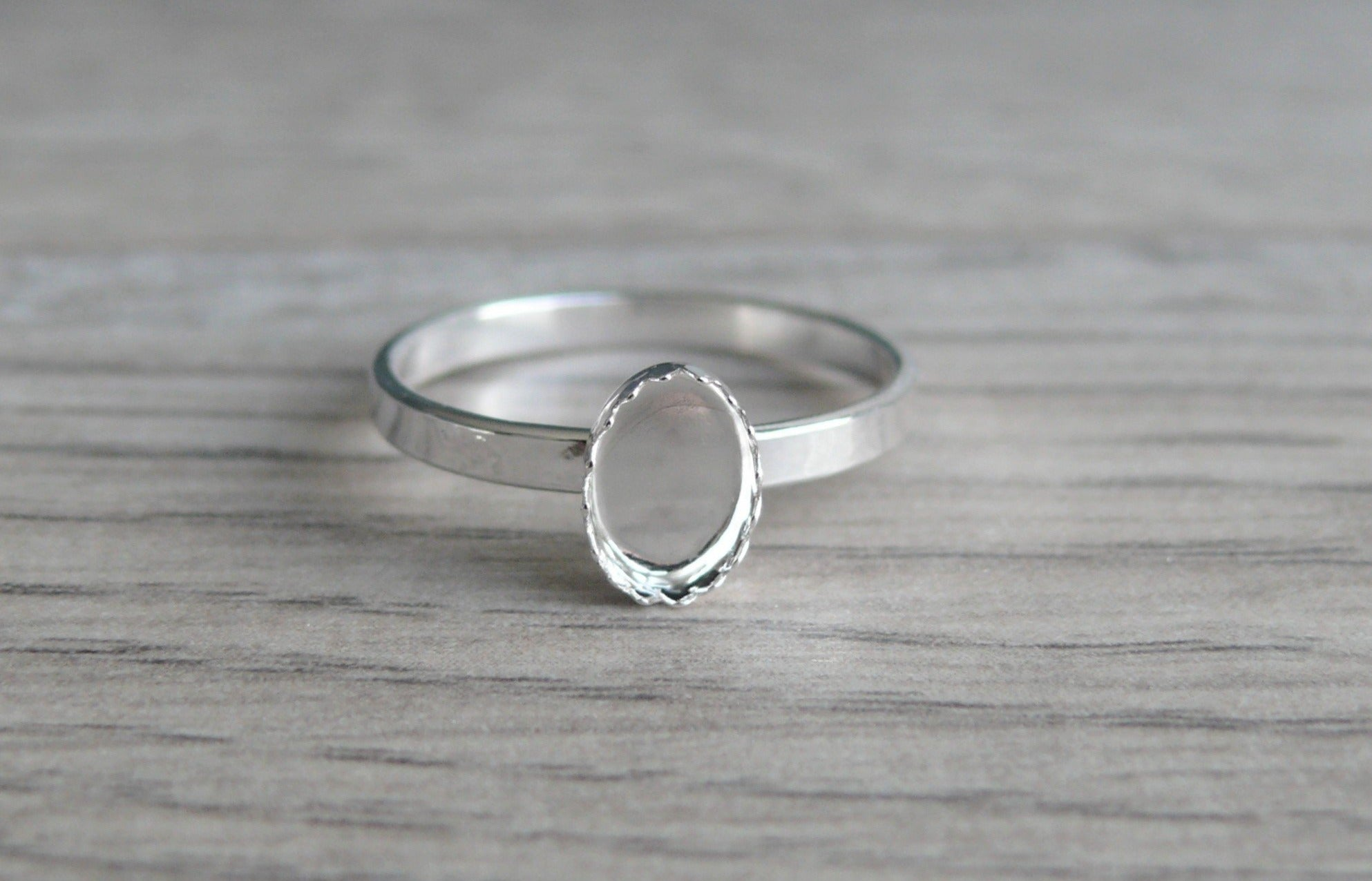 Oval Mount Ring-6X8MM Oval Semi Mount Ring-Without Stone Ring-Unset Ring-6X8MM Oval Setting Ring-925 Sterling Silver Ring-Prong Setting Ring