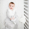 Grey Stripe Organic Sleep Sack