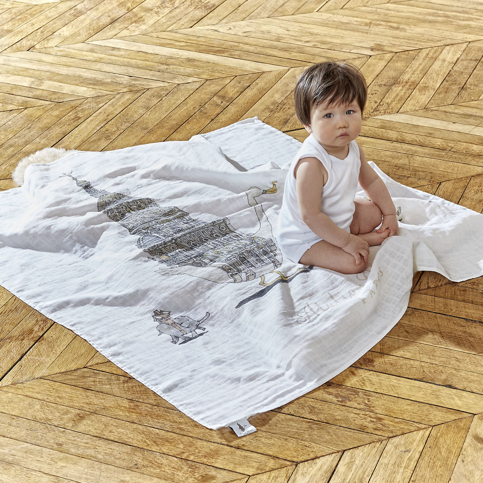 894be2f0f00 Atelier Choux Luxury Organic Hypoallergenic Cotton Swaddle Blanket ...