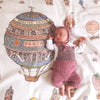 Luxury Organic Swaddle Blanket - Hot Air Balloons Print