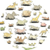 Luxury Organic Swaddle Blanket - Animal Menagerie Print