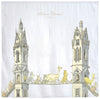Luxury Organic Swaddle Blanket - Tower's Bridge Print