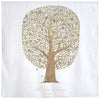 Luxury Organic Swaddle Blanket - Friends and Family Tree Print
