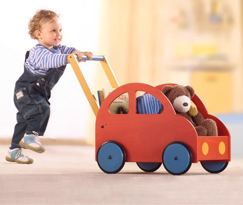 haba wooden pushcar walker peurobaby