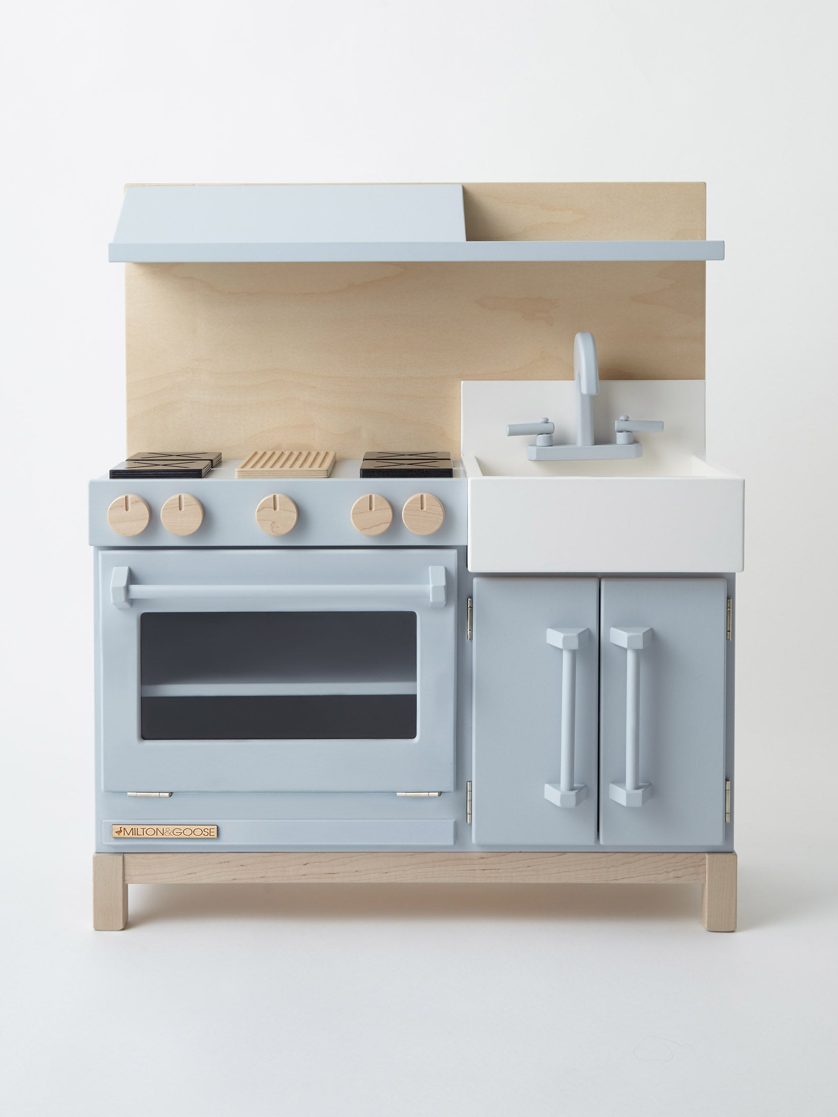 Blue Wooden Play Kitchen milton & goose play kitchen - peurobaby