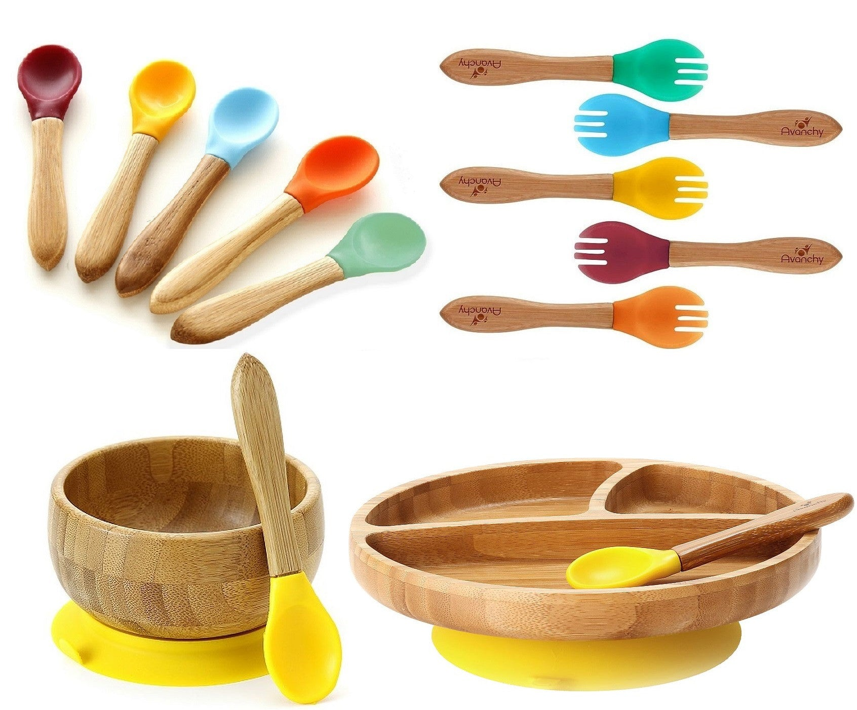 460a108225e Baby-led Weaning Bamboo Complete Set
