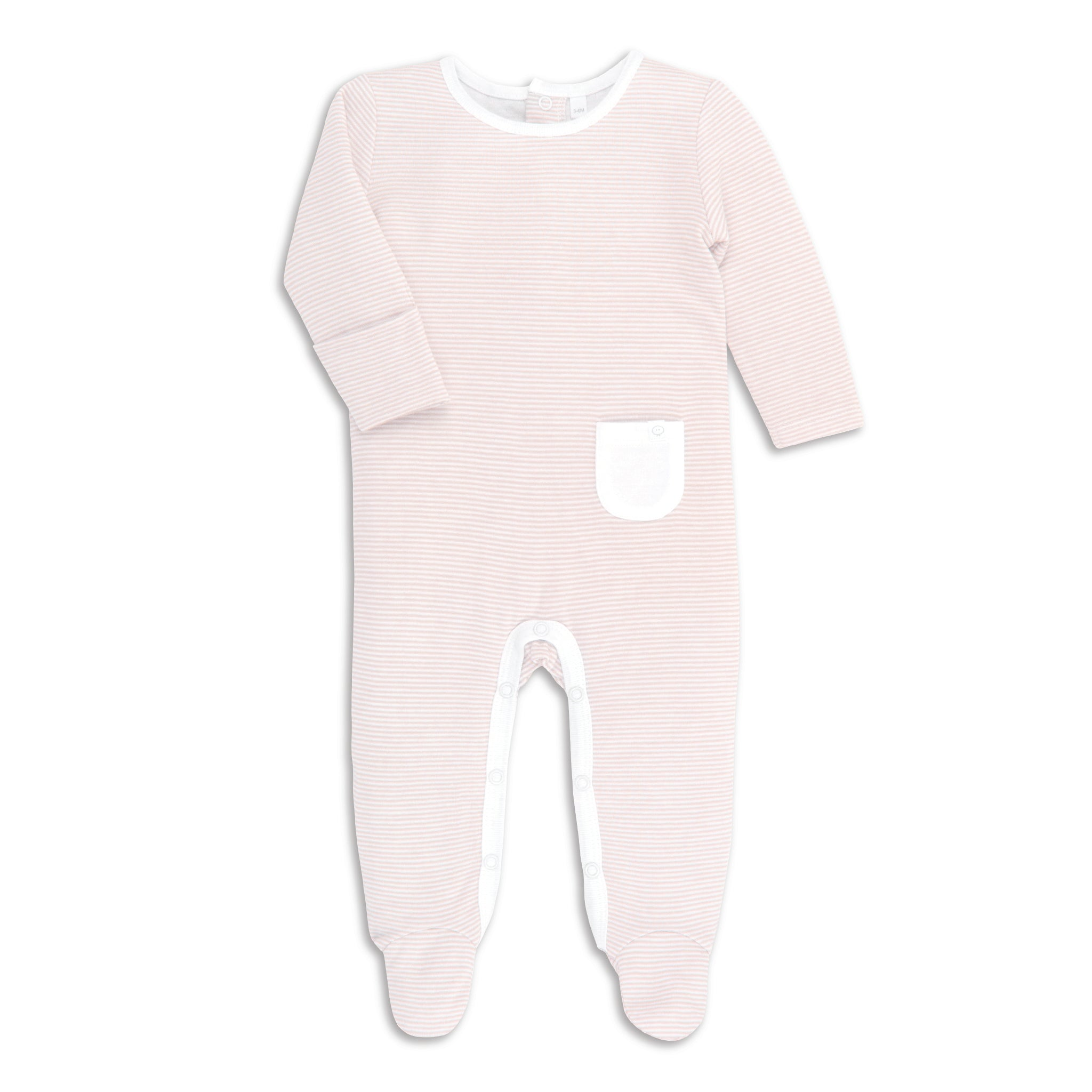 ef015c3d Blush Stripe Organic Back-Open Sleepsuit
