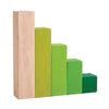 Green Ordering Wooden Blocks