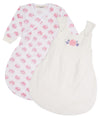 Pink Rose Organic Cotton Sleep Sack Duo