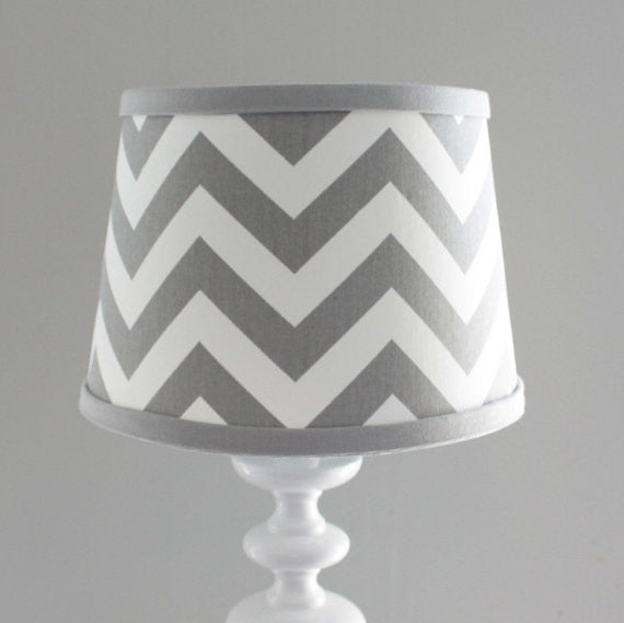 Gray Chevron Lamp Shade