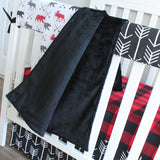 Lumberjack Red Black Woodland tribal Baby boy crib bedding