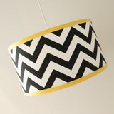 Chevron Pendant Drum Shade