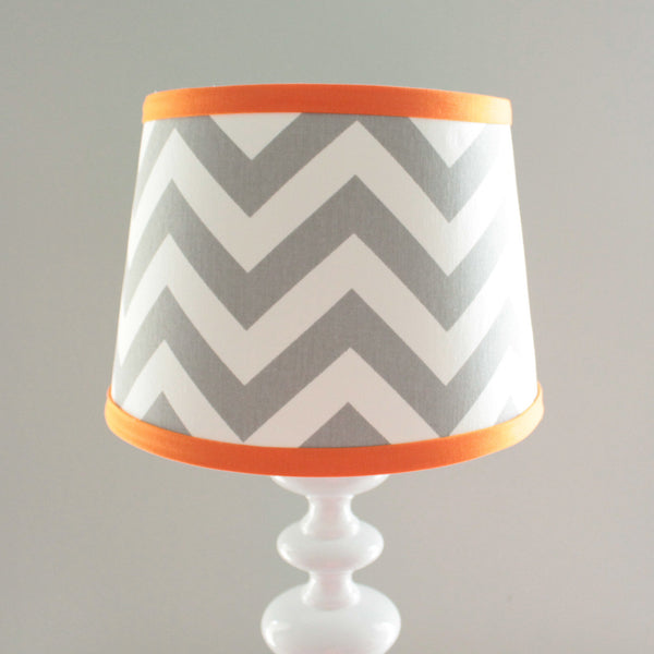 Gray & Orange Navy Chevron Lamp Shade