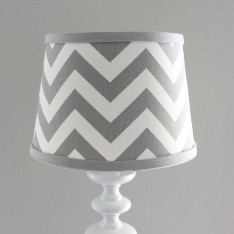 Gray & White Chevron Lamp Shade