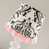 Black & Pink Damask lamp shade