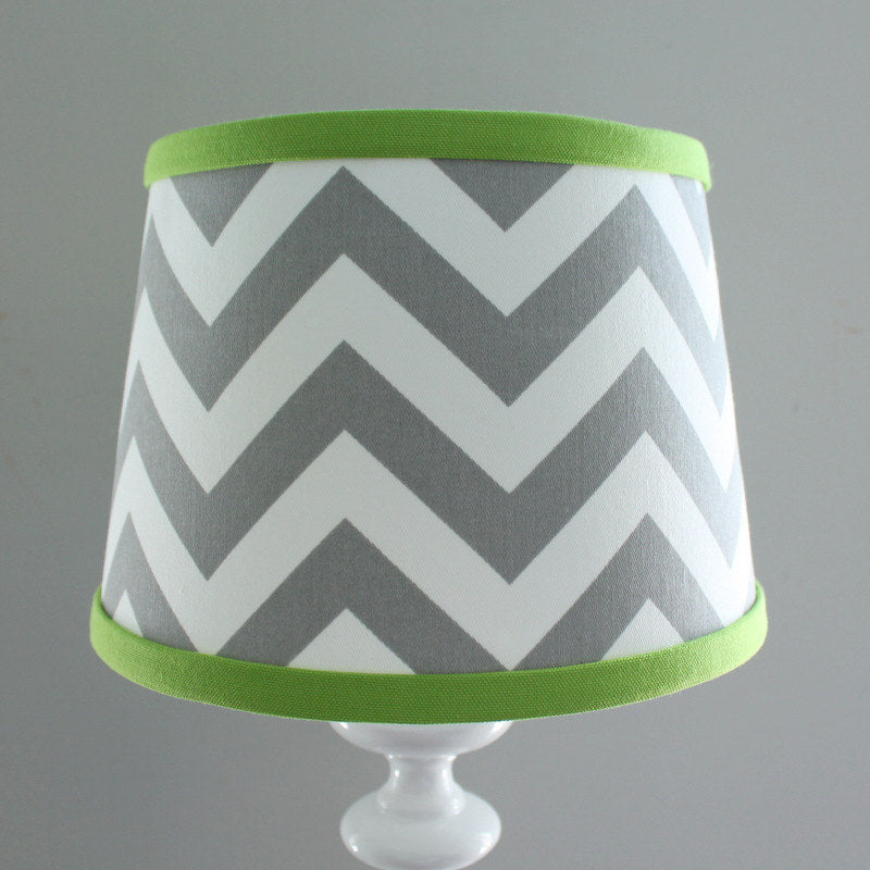 Gray & Lime Green Chevron Lamp Shade