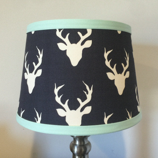 Navy & Mint Buck Lamp Shade