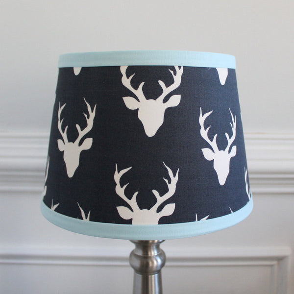 Navy & Baby blue Buck Lamp Shade