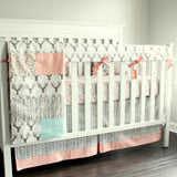 Buck Coral Deer Woodland crib baby bedding