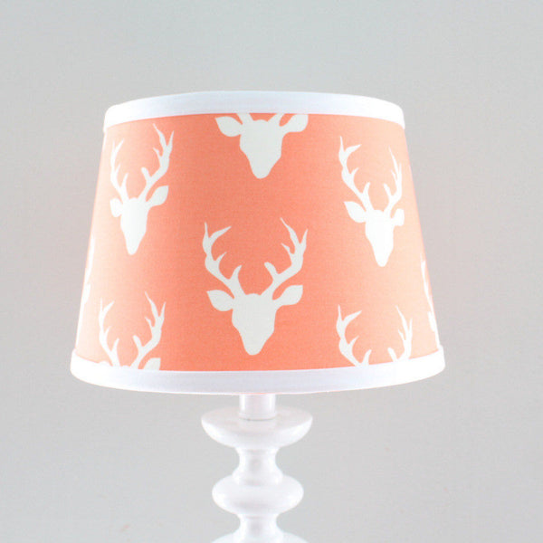 Coral Deer Buck Lamp Shade