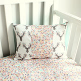Buck Coral Deer Crib bumper bedding