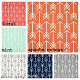 Navy Arrow Tribal Woodland print Grommet Panels.  Other Colors available.