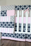Diaper Stacker Navy Pink Gotcha Nursery accessory