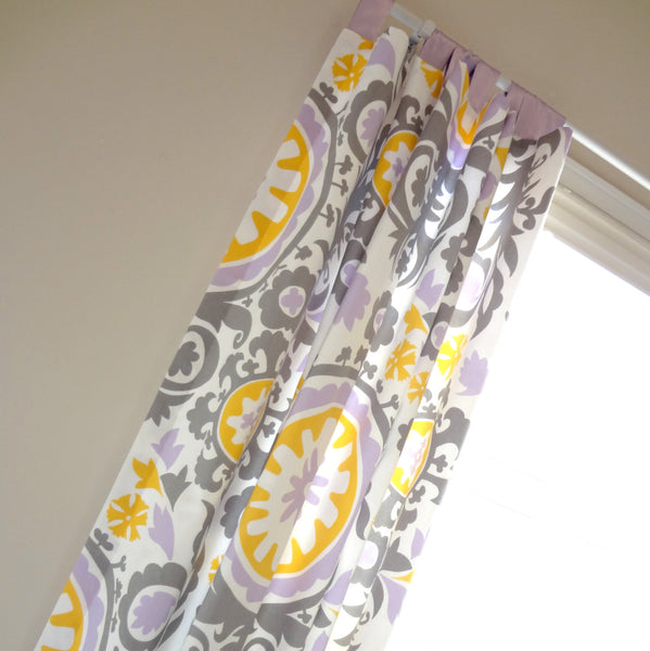 "Custom Drapery Tab top Panels 84"" and 95"" long"