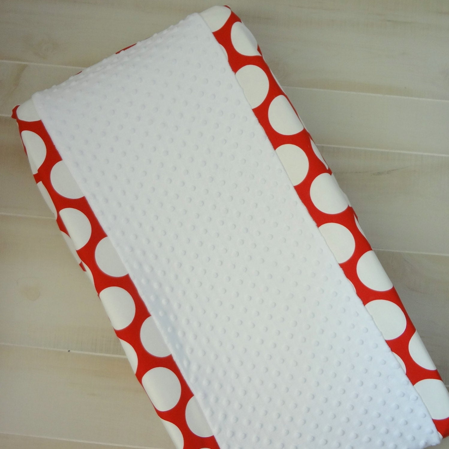 Red & white polka dot contour cover