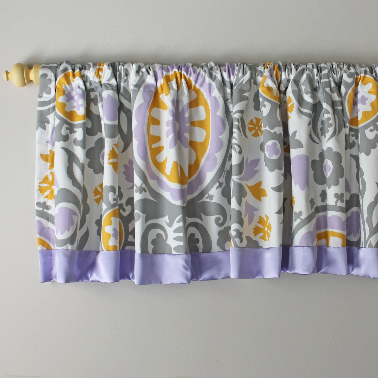 Custom nursery Pole Top valance.   Available in other collections.