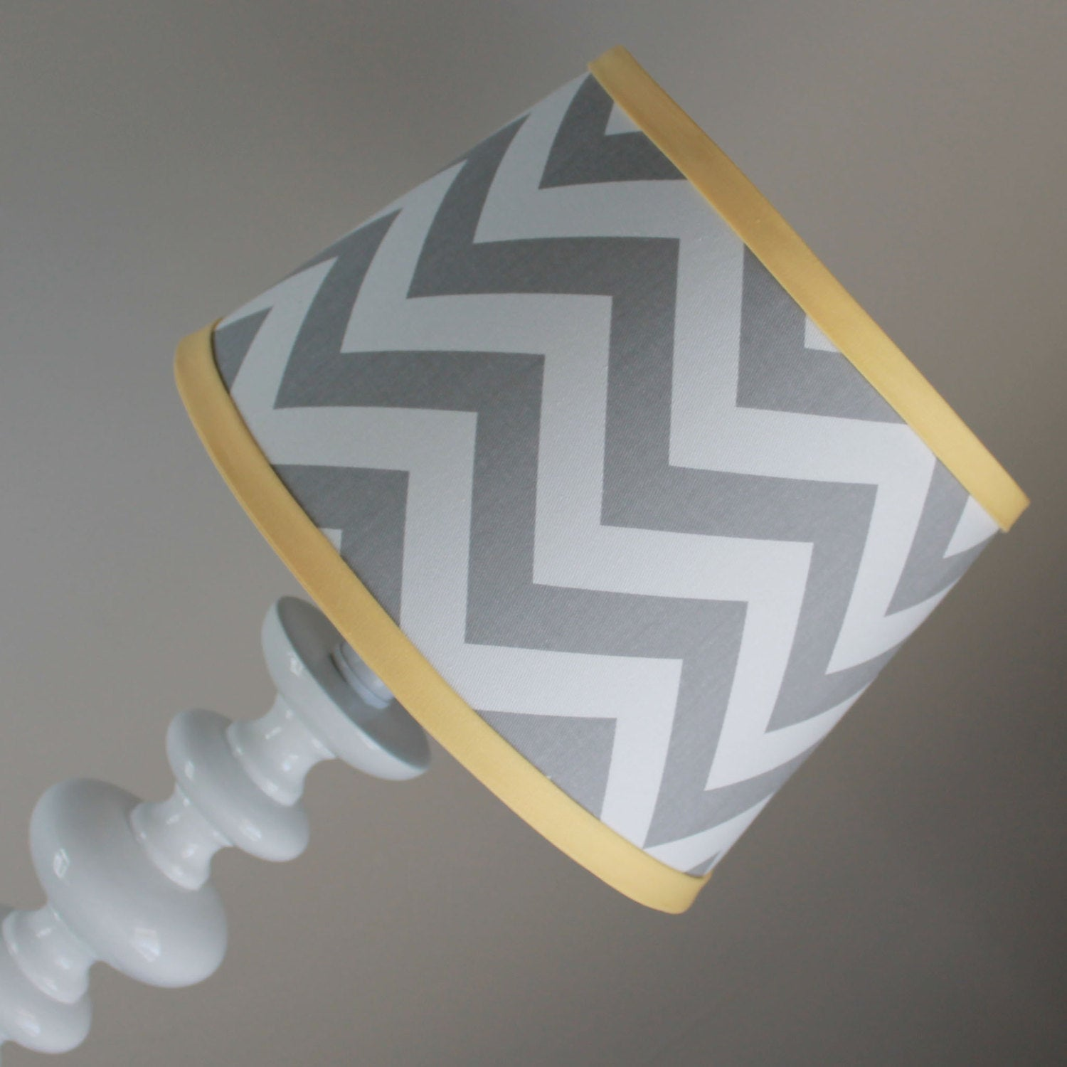 Gray & Yellow Chevron Lamp Shade
