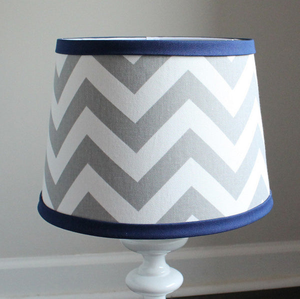 Gray & Navy Chevron Lamp Shade