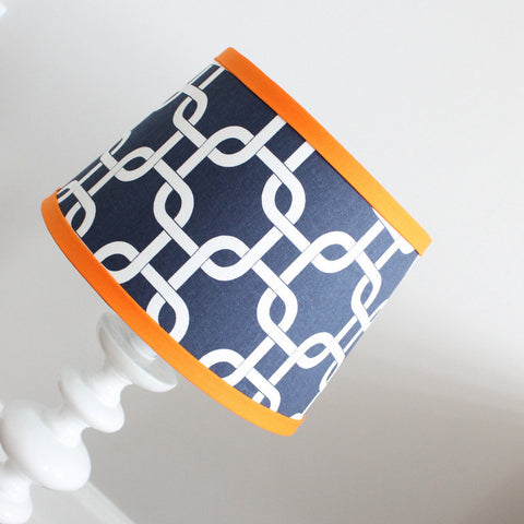 Navy & Orange Gotcha Lamp Shade