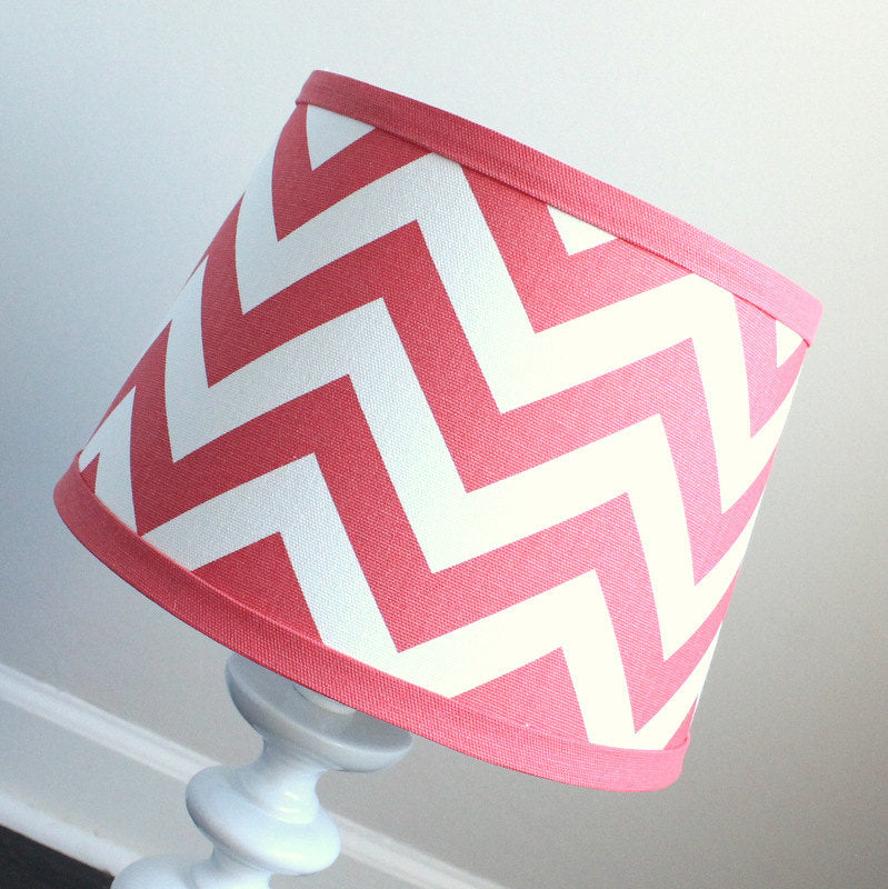 Coral Chevron Lamp Shade