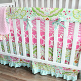 Kumari Garden Teja Bumperless 2 pc Crib Rail Bedding Collection