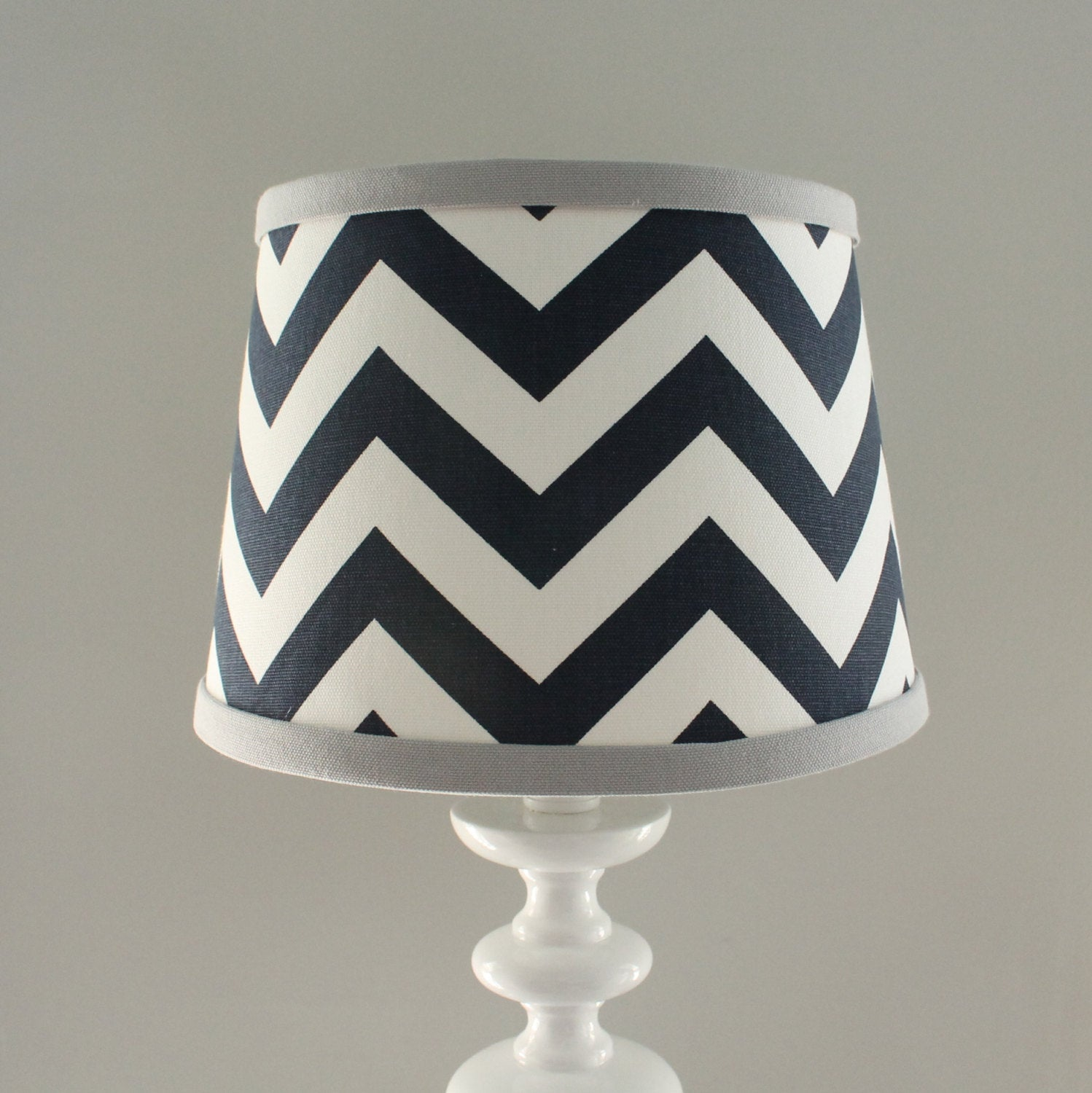 Navy & Gray Chevron Lamp Shade