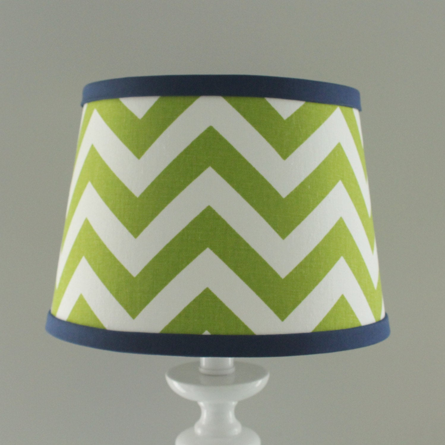 Green & Navy Chevron lamp shade