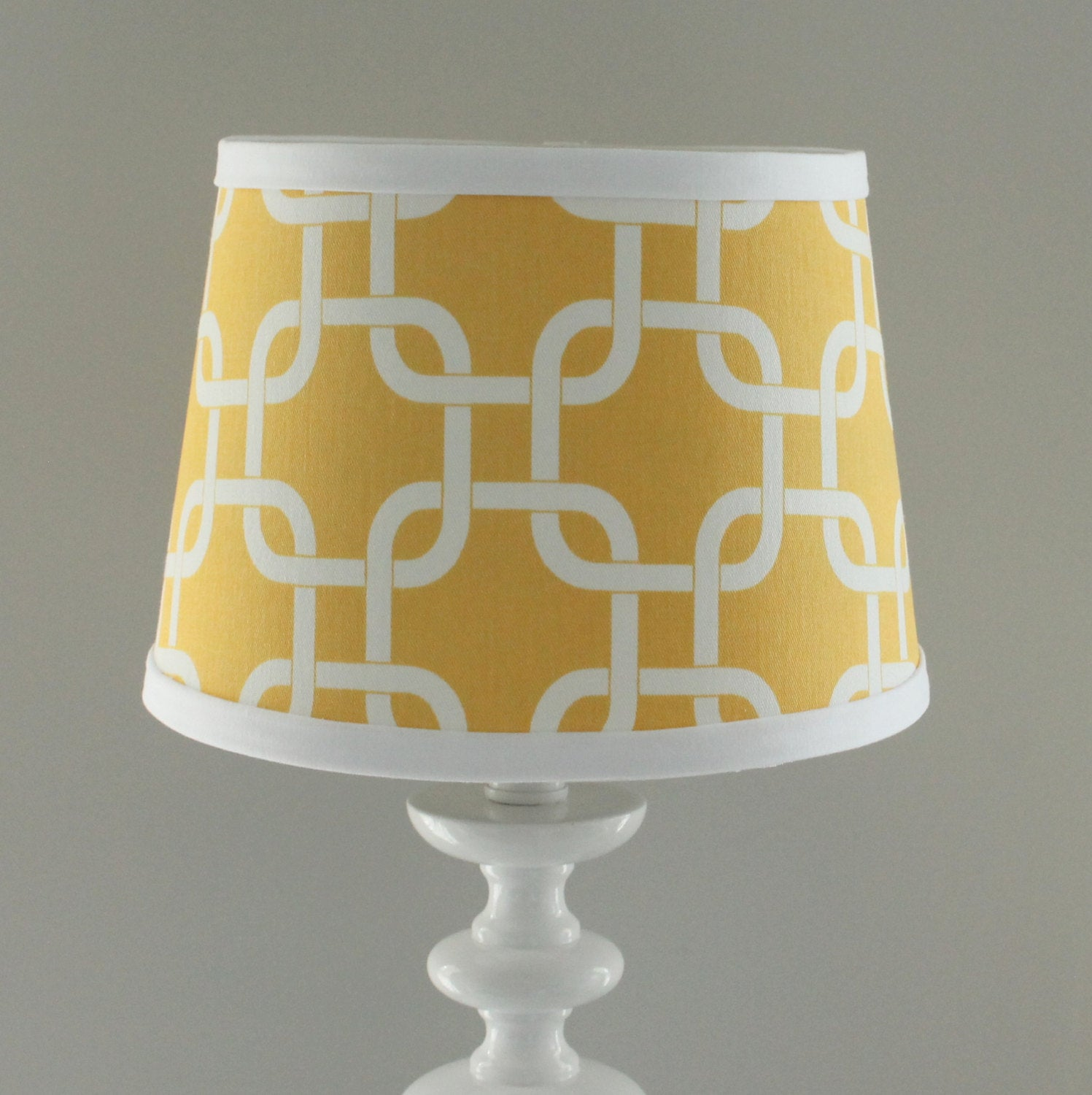 Yellow & White Gotcha Lamp Shade