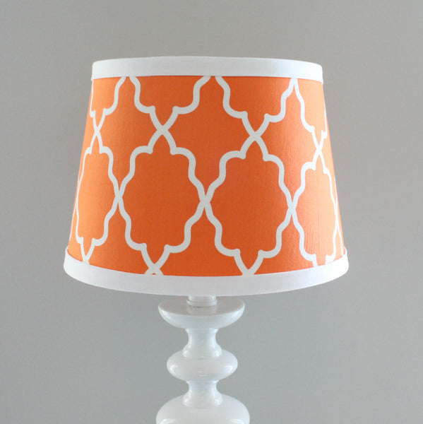 Orange Moroccan lamp shade